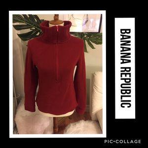 Banana Republic Wool Blend Half Zip Sweater S